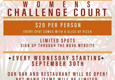 Women's Wednesday Challenge Court 9-30